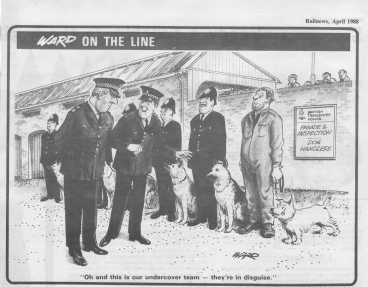 Police Dog Heroes - rail news cartoon
