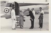 Queen's flight at Pershore