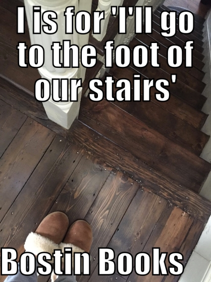 I foot of stairs