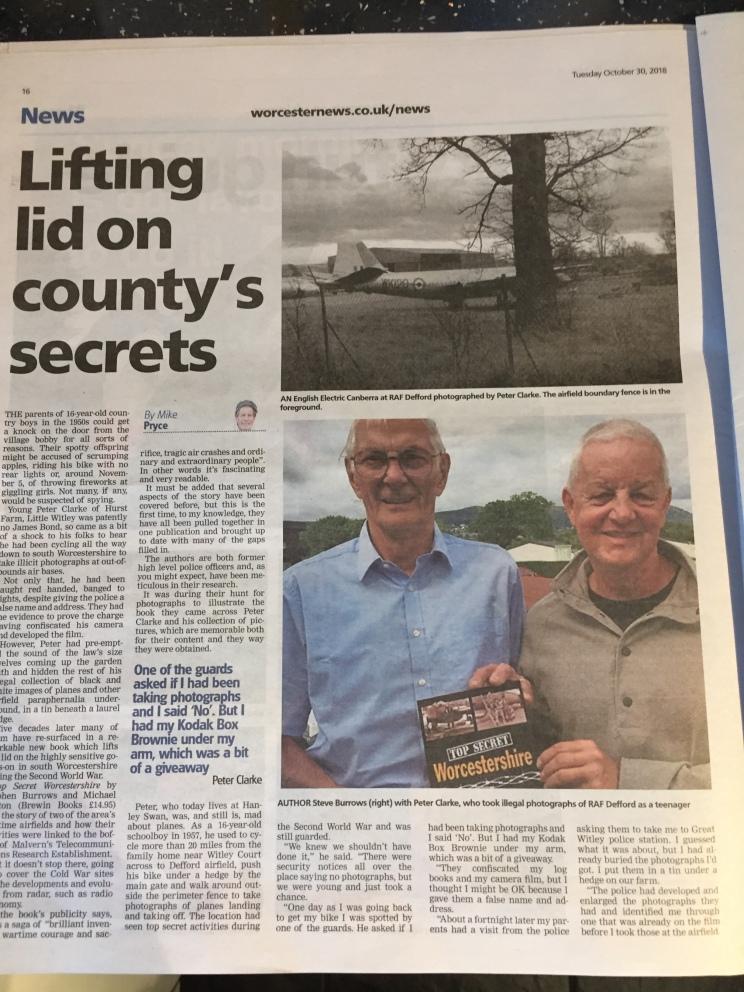Top Secret Worcestershire Review (P1) Worcester Evening News Nov 2018