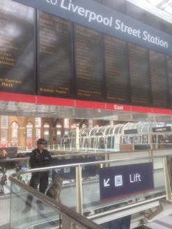 Police Dog Heroes - PC Trunley on patrol at Liverpool Street